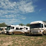 Big Rig RV sites: up to 50amp, 60' long, wide enough for dbl. slides a picnic area and a fire!