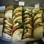 Platter of sandwiches for a buffet