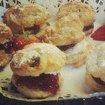 Mini scones for a buffet