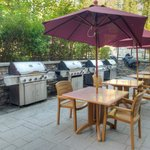 Outdoor patio barbecue area