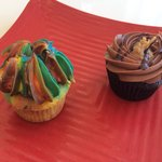 Wild Thing and German Chocolate cupcakes