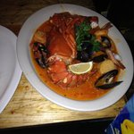 Lobster, mussels and shrimp....