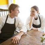 Husband and wife, chef Brian Konefal and pastry chef Paola Fioravanti.