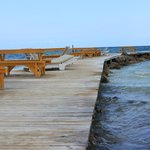 Pier for sunning, walking or watching the fish