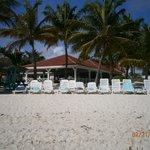 Beach with Restaurant in background