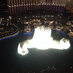 Great view of the Bellagio fountains!!