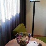 lamps and decor are all Kosta Boda glass