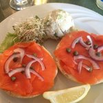 Bagel & Lox with potato salad