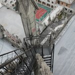 the vertigo-inducing stairway on the north tower