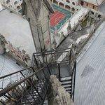 the vertigo-inducing stairway on the north tower
