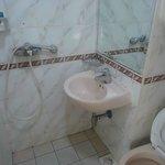 Bathroom is tiny too