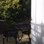 The Wilverley's patio; a perfect place to enjoy a glass of wine (or tea!)