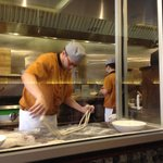 Pulling noodles!