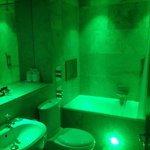 Green lighting...can be turned on or off