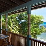Ocean view from restaurant deck.