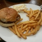 Delicious southern fried chicken burger & gammon