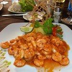 Camerones dish - plump, tasty prawns