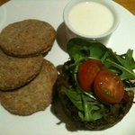 Whisky & Haggis starter with oatcakes and whisky soya cream sauce