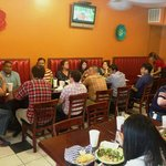 My group having a fresh tasty lunch at Falafel Factory Houston Downtown