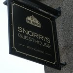 Snorri's Guesthouse Sign