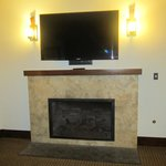 Gas fireplace with flat screen