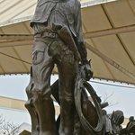 Cowboy at entrance