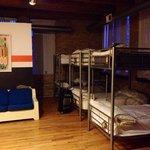 8 bed female dorm room