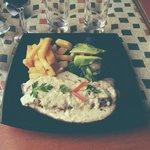 Filet d'alpaga avec sa sauce au quinoa