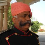 Doorman .... wonderful moustache...