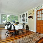 Bay Cottage Breakfast Room on the water, morning sunshine and breezes welcome the day
