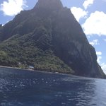 pitons by speedboat