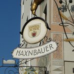 Haxnbauer Sign on Building