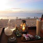 Beach Bar, Sunset, Low tide
