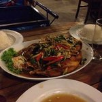 Red snapper with thai herbs