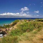 Honulua Bay入り口側からの眺め、目の前はMolokai島