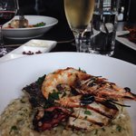 BBQ seafood risotto... Simply delicious.