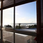 view from the bedroom of camps bay beach