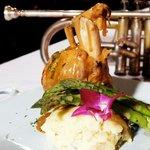 Pork Osso Bucco with Gorgonzola demi-glaze