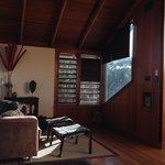 Upstairs living space, lorikeet treetop house