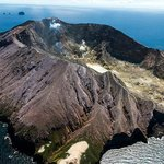 Luftaufnahme von White Island - Aerial view of White Island