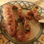Grigliata calamaro-gamberi.