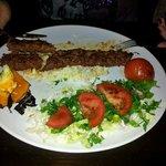 Adana Kebab, auch schon angebissen vor lauter Gier ;)