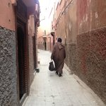 Street to the riad