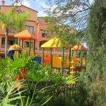 Pretty playground and gardens