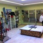 Ski storage room
