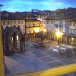 View from my bathroom of Largo de Oliveiras in early evening