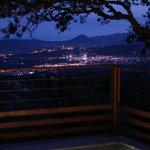 Vue de nuit de la terrasse