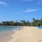 quiet end of Unawatuna beach
