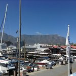 View on Table Mountain as seen from Terrace at Grrek Fisherman