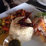 Sea food rice and curry..